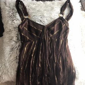 ARDEN B. Gorgeous Silk and Metallic XS Dress